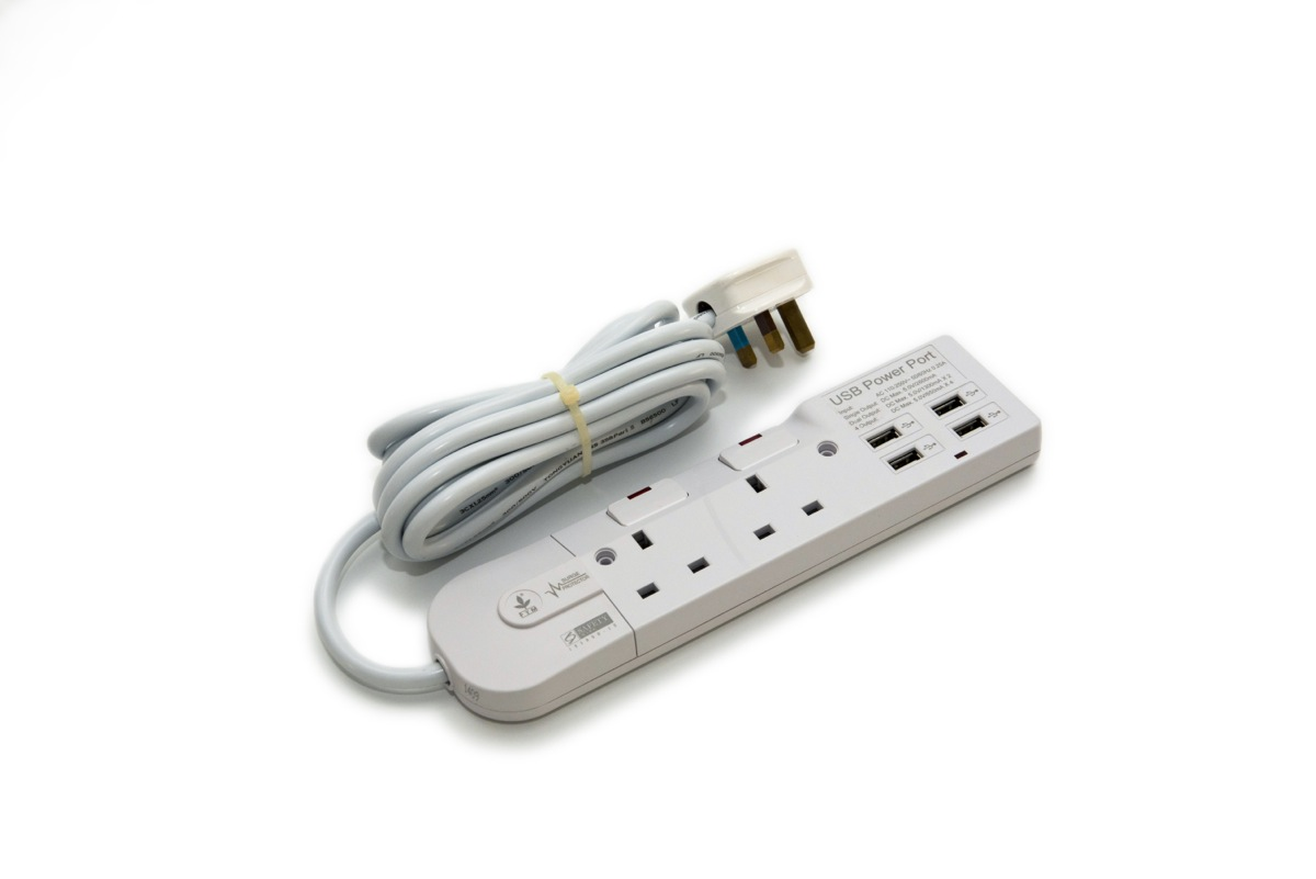 Usb Extension Product : S usb way extension socket with surge protection